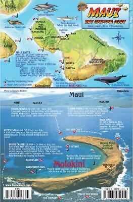 Maui Hawaii Map & Reef Creatures Guide Laminated Fish Card by Franko Maps