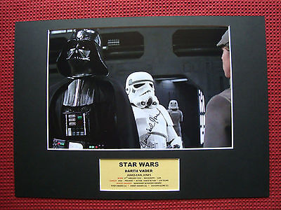 James Earl Jones *darth Vader* Star Wars Hand Signed Photo A3 Mount Display- Coa