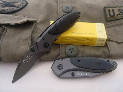 Buck Outdoor Rescue Fishing Pocket Camping Knife Folding Saber Clip NEW Gift z14