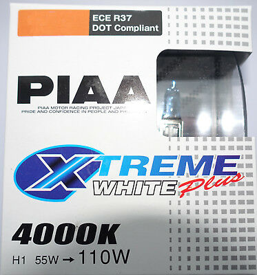 PIAA Xtreme Extreme White + PLUS  H1-H3-H4-H7-H11-H13-HB3-HB4  TWIN PACK 4000K