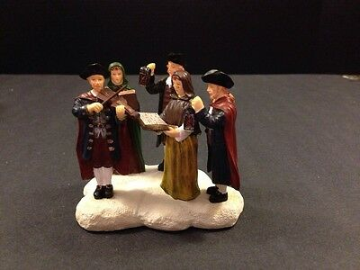 """Colonial Williamsburg Village """"Carolers"""" Lang & Wise New In Box Hard to Find"""