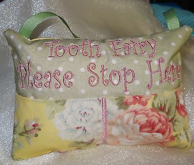 Personalized Handmade Beautiful Roses Tooth Fairy Pillow