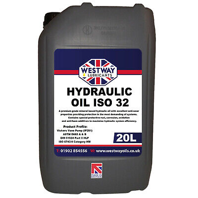 Hydraulic Oil ISO 32 Fluid 20L VG32 Westway High Grade 20 Litres DIN 51524