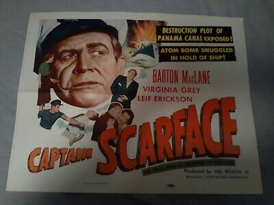 SCARFACE (Barton MacLane) HIS SOUL WAS AS CROOKED AS HIS SCAR (1953 Original)