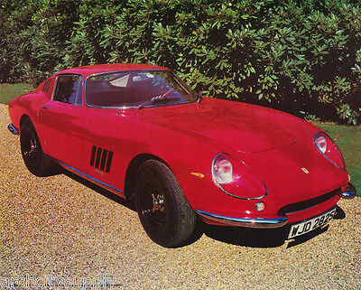 Small Poster: Cars :old Red Ferrari - 275-Gib -  Free Shipping ! #17-769  Lp38 W