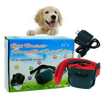Chargeable Shock Sound vibration Auto Bark Control Traning Collar for Dog GOCG