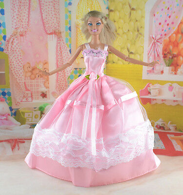hot New Handmade Party Clothes Fashion Dress for Noble Doll *y68
