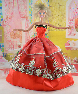 hot New Handmade Party Clothes Fashion Dress for Noble Doll *y84