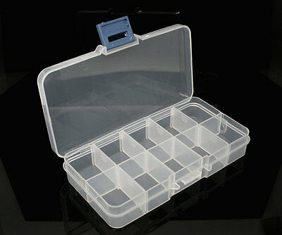 Clear Gift Beads Display Storage Case Box 13x7x2.3cm