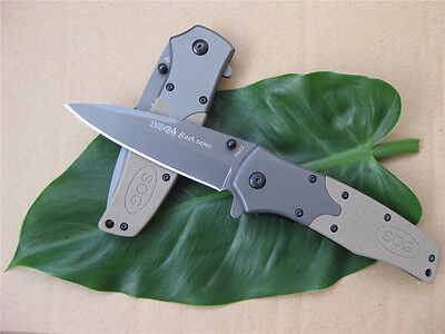 SOG Assisted Opening Folding Pocket Saber Knife Camping Hunting Fishing Gift S67