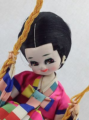 Vintage Japanese Doll On Swing Great Estate Find