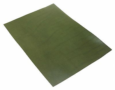 Full Grain Vegetable Tanned A4 Oil Leather Olive Green Leathercraft 3oz 1.2mm