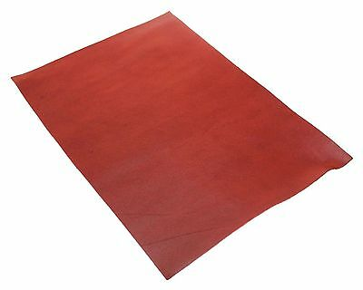 Full Grain Vegetable Tanned A4 Oil Leather Leathercraft Red 3oz 1.2mm