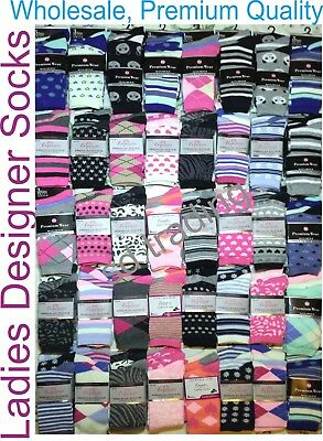 24 Pairs LADIES WOMEN DESIGNER SOCKS WHOLESALE JOB LOT CLEARANCE TRADE