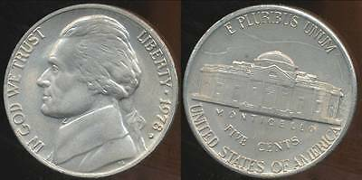 United States, 1978-D 5 Cents, Jefferson Nickel - Uncirculated