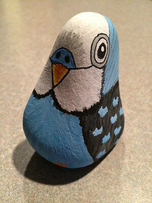 Hand Painted Parakeet Stone / Rock