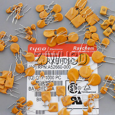 (80mA-5A/16-250v) 80pcs 16Value PolySwitch Resettable Polyfuse Fuse Assorted Kit