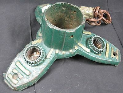 Vintage 1920-30's Lighted Cast Iron Christmas Tree Stand