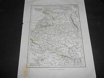 1835 Ancient Map Russia In Europe By Monin Fremin Published By Binet Paris