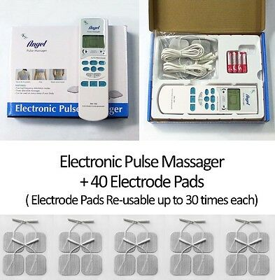 Tens Electronic Pulse Massager Muscle Stimulator Electrotherapy + 40 pads free