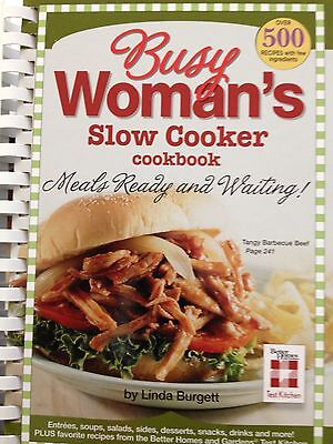 Busy Woman's Slow Cooker Cookbook. By Linda Burgett..New Hardcover!