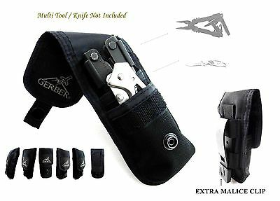 2 Pockets Gerber Knife & Multitool Pouch/sheath Fit For Mp800, Mp600,06 Auto Bin