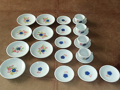 Lot of 23 pieces Children's Dishes Porcelain Keywick LTD China Toy