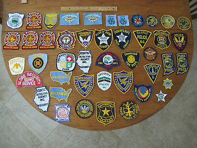 Police Patches, fire dept, private security, Mixed Lot of 45 pc's.