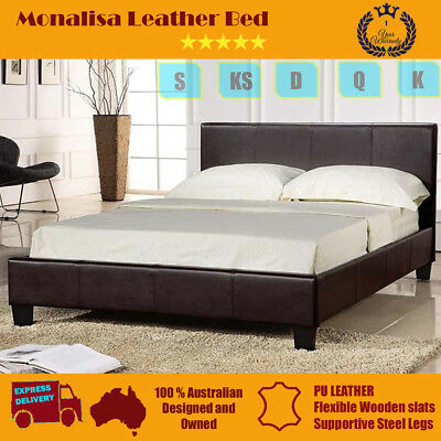 Brand New Monalisa PU Leather Single/King Single/Double/Queen Size Bed Frame