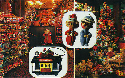 Christmas Store Interior: S. Claus, Ornaments, San Francisco & Napa Valley, CA.