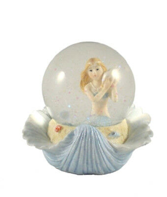 Fairy Mermaid  Snowglobe 65mm Blue- Mermaid Theme Glitter Water Ball