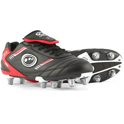 Optimum Tribal Rugby Junior  Boots Black/Red