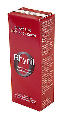 Rhynil Spray for Nose & Mouth - Extra Strong Formula Stop Snoring Herbal Spray