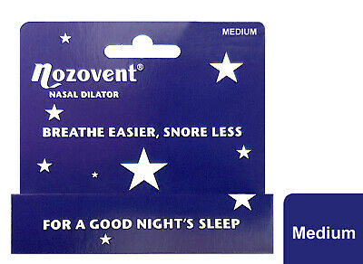 Nozovent Nasal Dilator Reduces Snoring Dry Mouth & Morning Tiredness - Medium