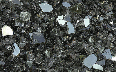 """10 lb Gray Reflective Fireglass  1/4"""" for Fire Pits and Fireplace"""