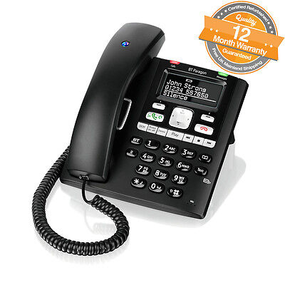 BT Paragon 650 Corded Digital Answerphone Built-in SIM Card Reader Black