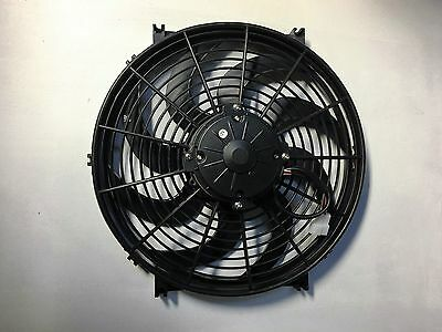 14 INCH 12v LOW PROFILE HIGH PERFORMANCE THERMO FAN 280w