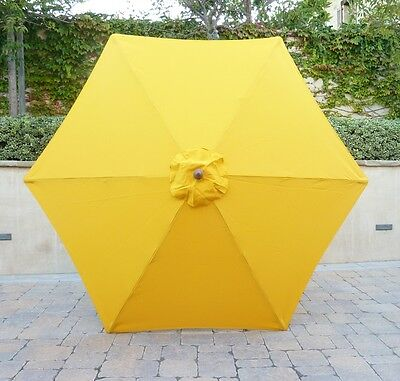9ft Umbrella Replacement Canopy 6 Ribs in Yellow (Canopy Only)