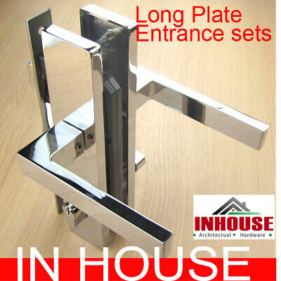 Long Plate entrance lock set-Satin