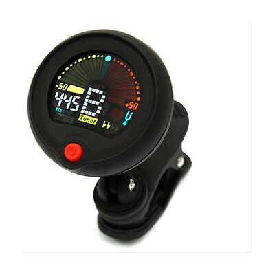 NewClip On Chromatic Tuner Metronome For Electri Guitar Bass Acoustic Mini Black