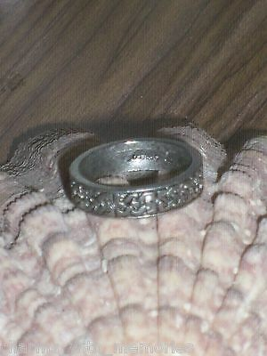 PEWTER RING MONEY~SUCESS~WEALTH~ size 7~ Certificate of Authenticity