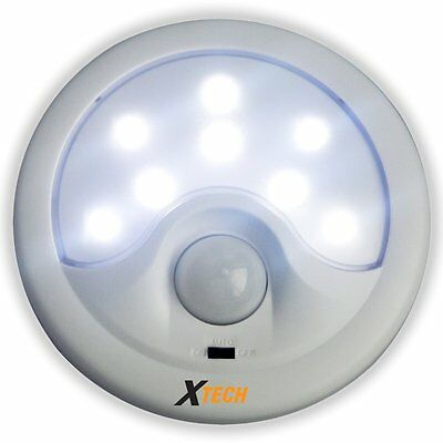 8 LED Battery Operated Super Bright Night Light with Auto Motion & Light Sensor