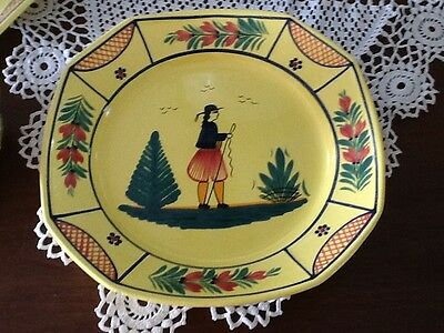 Quimper FRENCH POTTERY SOLEIL YELLOW  DEEP LARGE SERVING PLATE