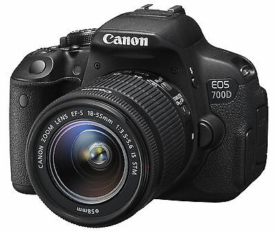 Canon EOS Rebel 700D / T5i DSLR Camera with EF-S 18-55mm f/3.5-5.6 IS STM Lens!