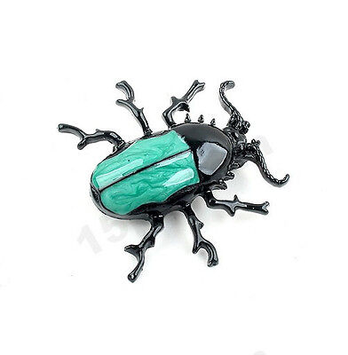 New Fashion Punk Style Insect Jewelry Enamel Beetle Cute Brooch Pin