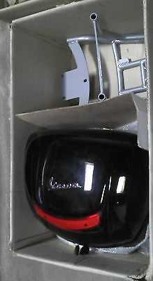 Genuine Piaggio Vespa PX & LX 150 BLACKTop Case With Rack NEW In The Box