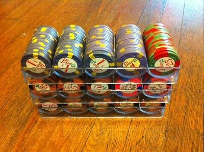 LARGE SET OF 303 PALACE CLUB CASINO CHIPS POKER CHIPS