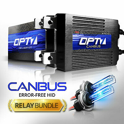 OPT7 AC 55W CanBUS H7 HID Kit w/Relay Harness Bundle ¦ All Xenon Light Colors