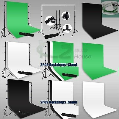 9x15Ft Photo Screen Muslin Backdrop Photography Studio Background Support Stand
