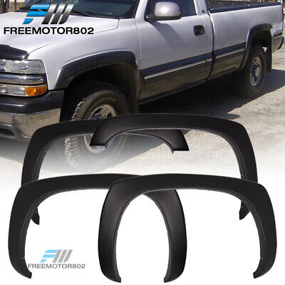 For 99-06 Chevy Silverado OEM Style Fender Flares Set of 4 Paintable Matte Black